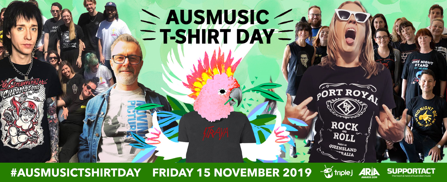 Show Your Support For Australian Music This Ausmusic T-Shirt Day