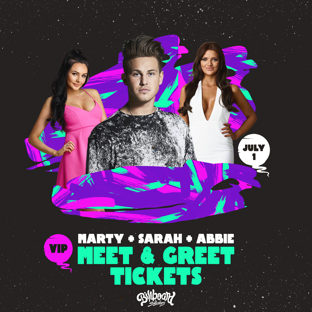 Buy billboard saturdays feat marty sarah abbie tickets vic 2017 will be provided to the ticket holders please ensure you include your email and mobile number so the organisers can contact you about the vip details m4hsunfo