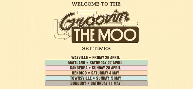 Groovin The Moo 2019 Set Times Are Here!