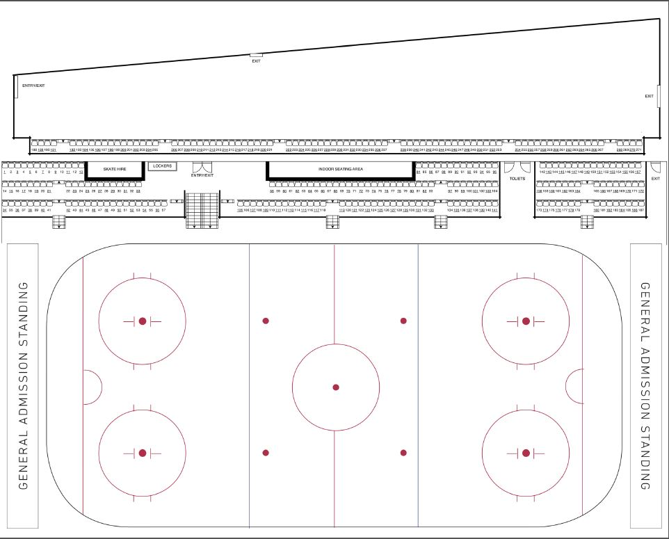LCC Ice Dogs Ticket Map