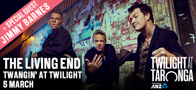 Win A Double Pass To See The Living End At Twilight At Taronga Presented By ANZ!