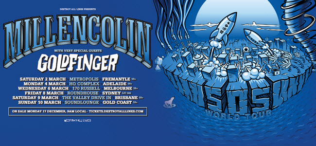 Millencolin and Goldfinger Announce 2019 Australian Tour