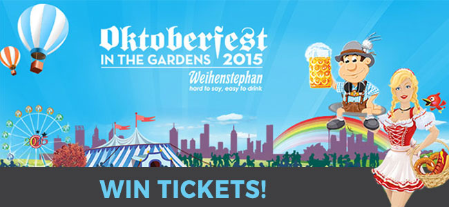 WIN TICKETS to Oktoberfest in the Gardens 2015!