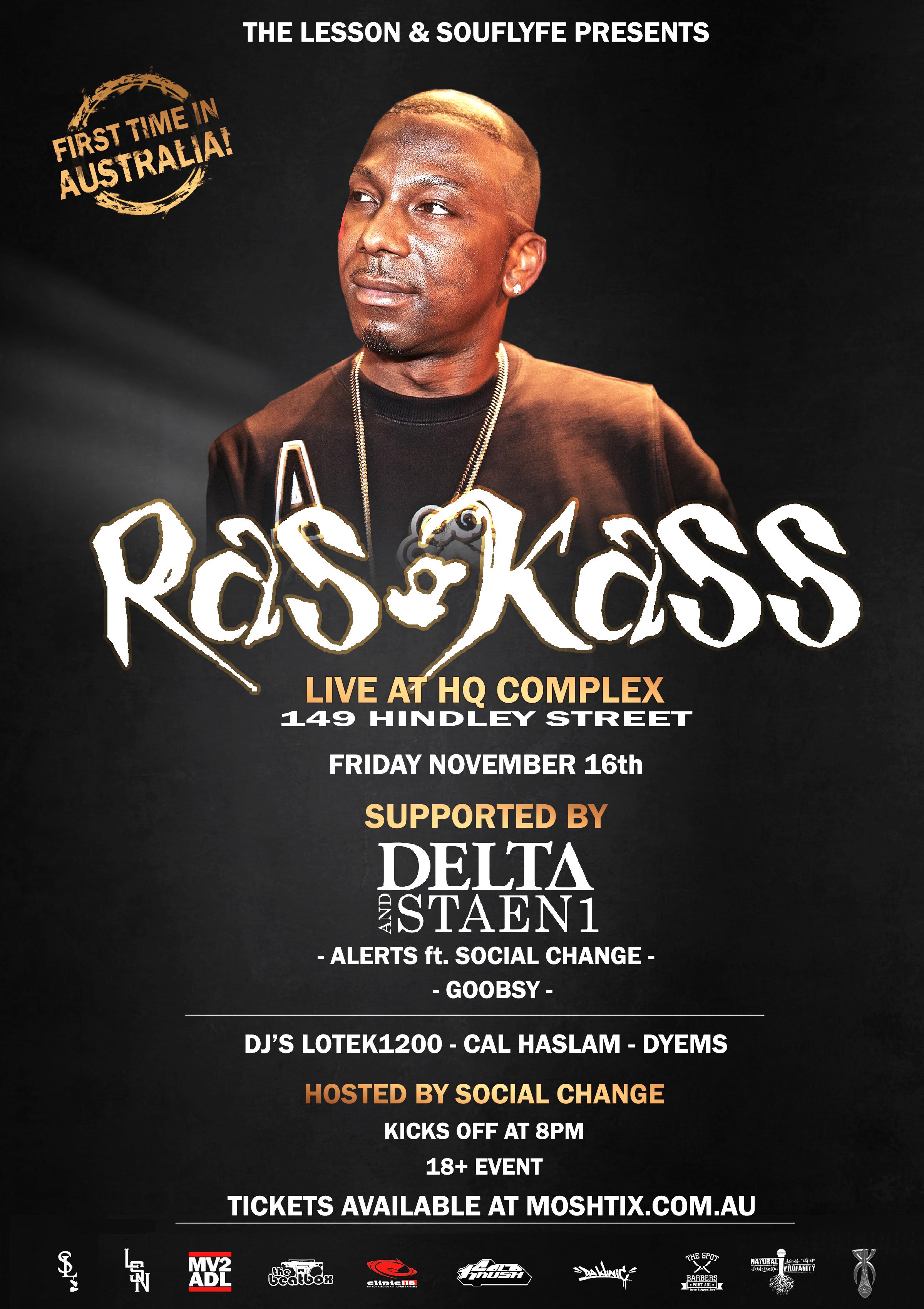 Buy Ras Kass Live tickets, SA 2018 | Moshtix