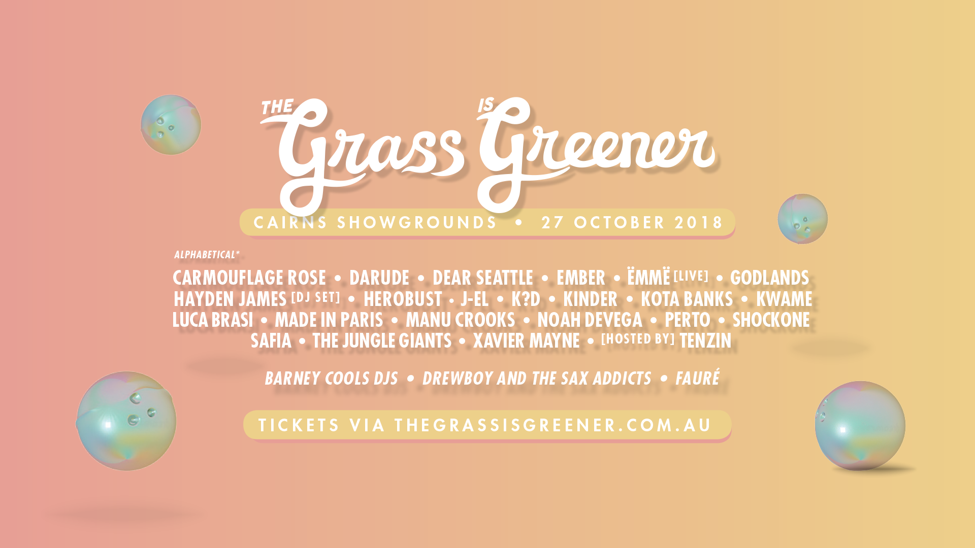 Buy The Grass is Greener Festival 2018 tickets, QLD 2018