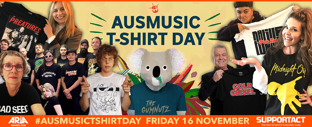 Get on board with Aus Music T-Shirt Day!
