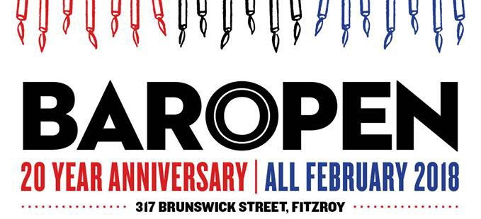 Bar Open 20 Year Anniversary