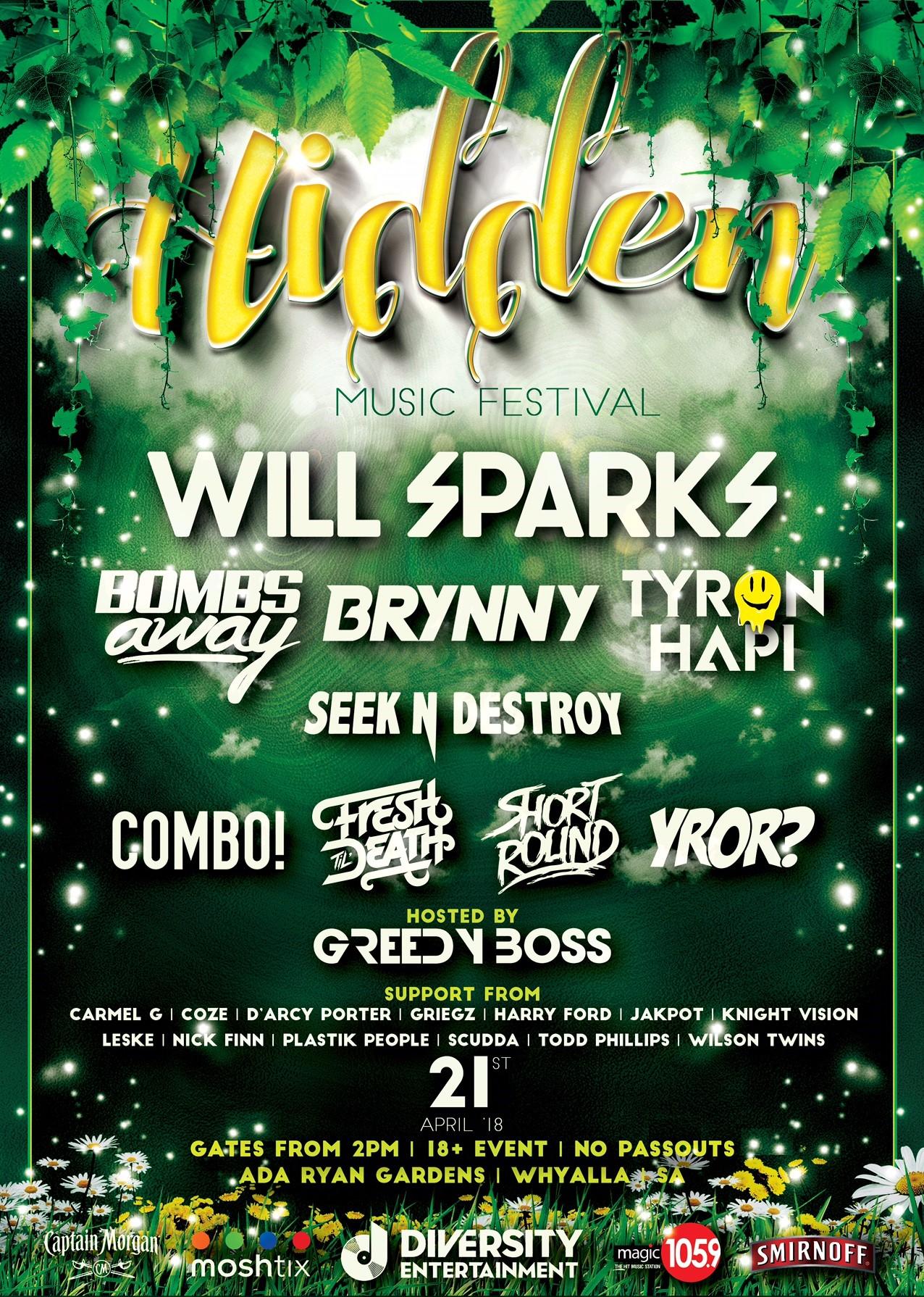Buy Hidden Music Festival Whyalla Tickets Sa 2018 Moshtix