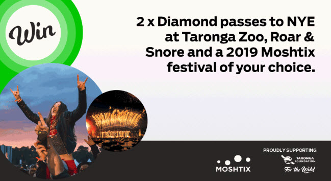 Win The Ultimate 2019 New Years Experience With Moshtix and Taronga Zoo