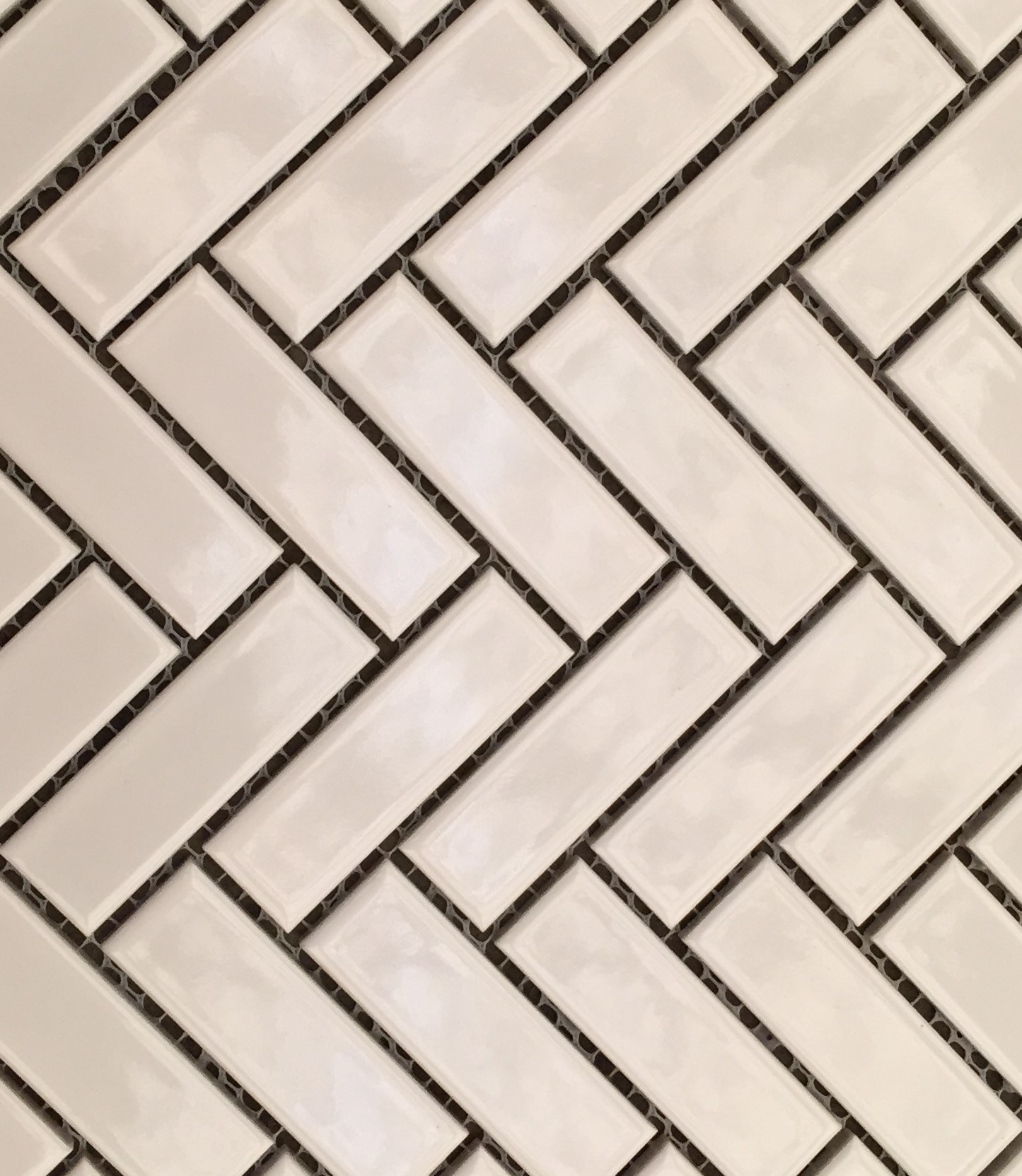 Glazed Herringbone Mosaic White Gloss