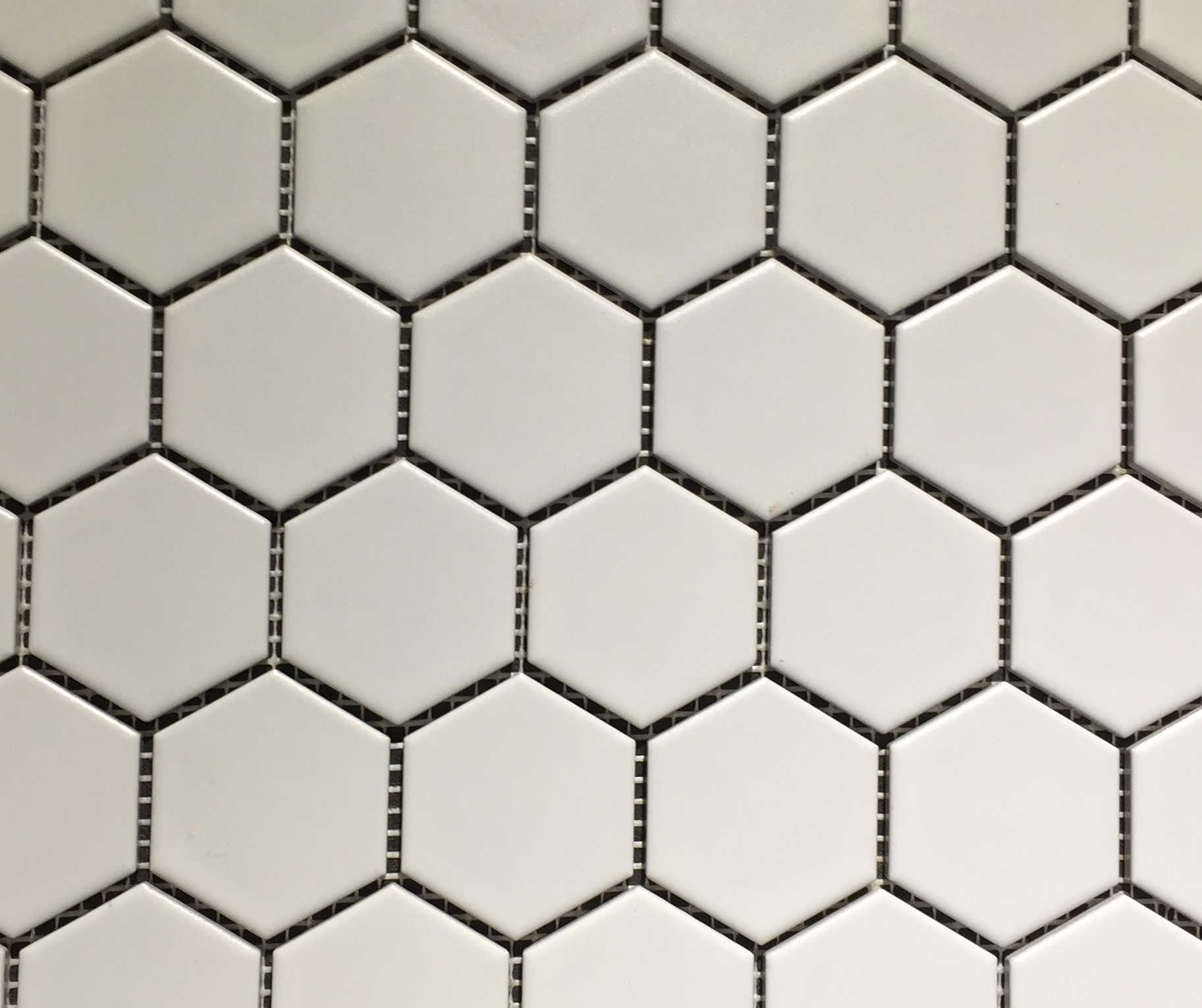 Glazed Hexagon Mosaic White Matt