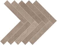 Atlas Dwell Herringbone Greige Mosaic