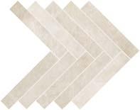 Atlas Dwell Herringbone Off White Mosaic