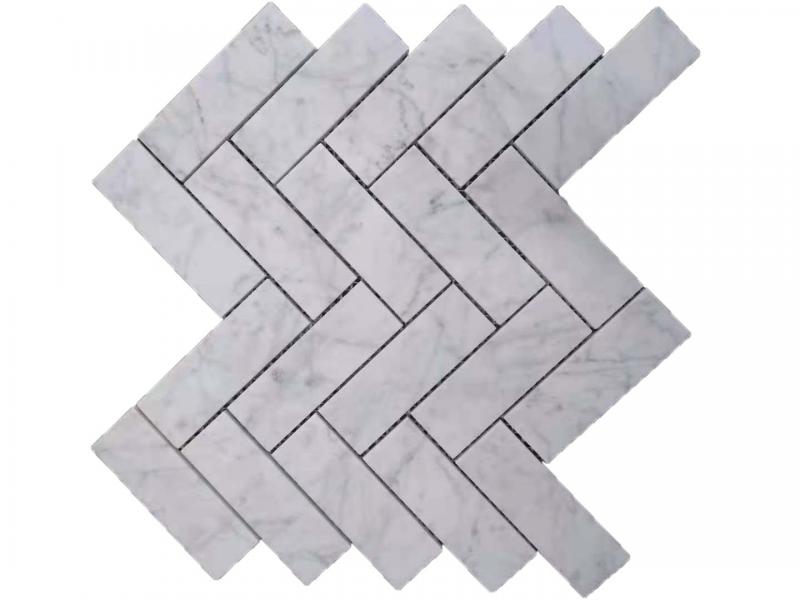 Entiva Stone Herringbone Carrara 40*120*7MM Mosaic