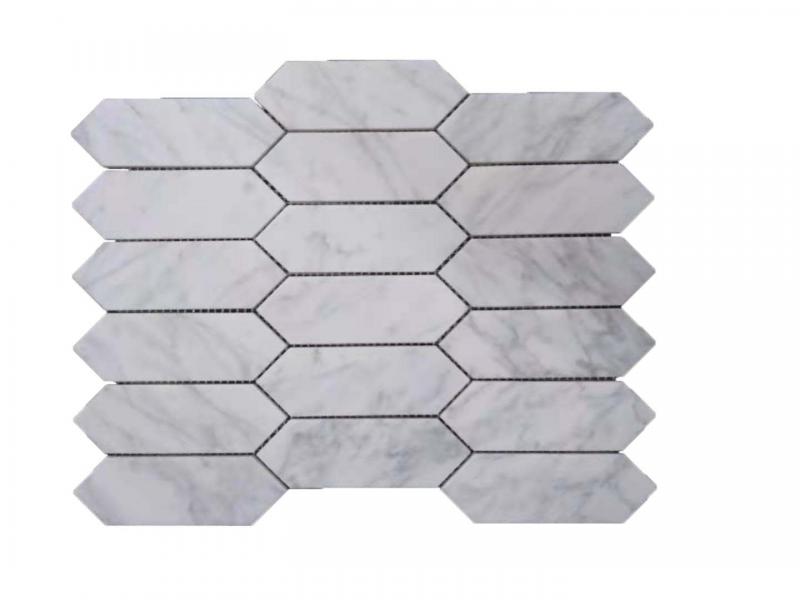 Entiva Stone Pickets Carrara Mosaic