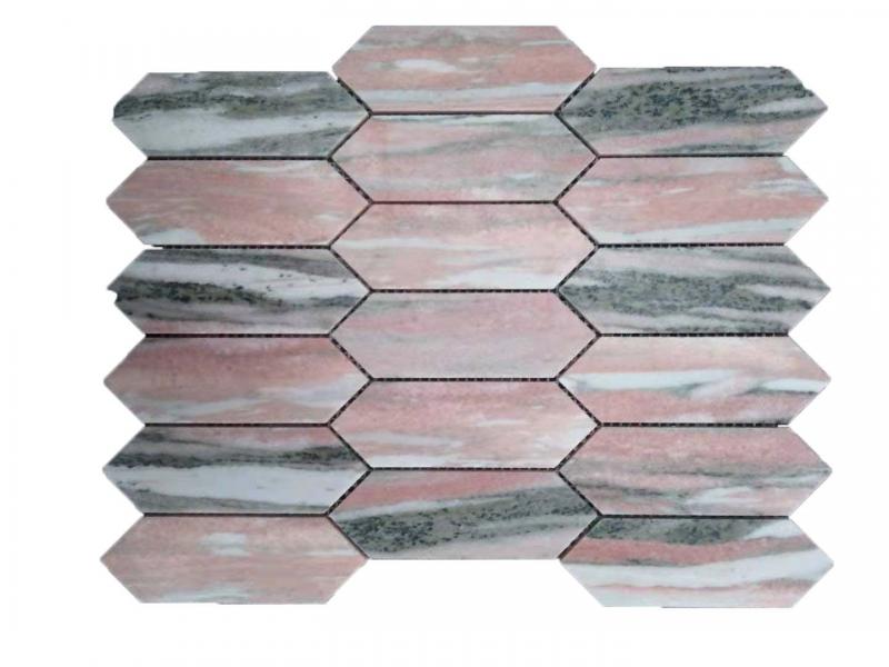 Entiva Stone Pickets Pink Mosaic
