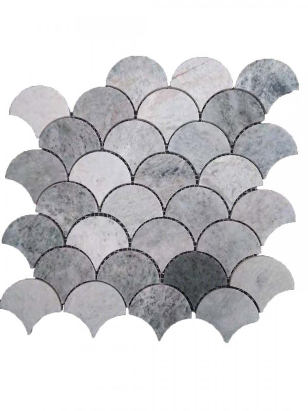 Entiva Stone Fan Green Mosaic