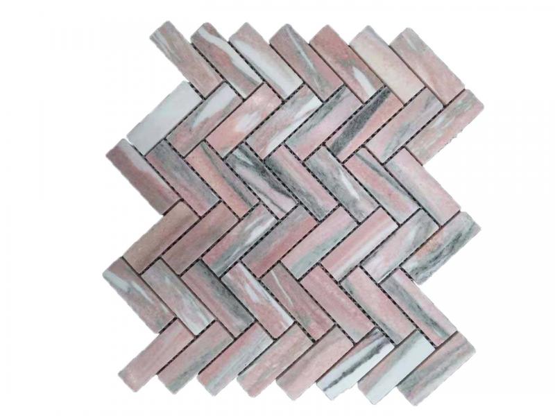 Entiva Stone Herringbone Pink 23*73*7MM Mosaic