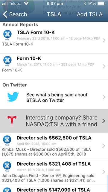 App Link - TSLA