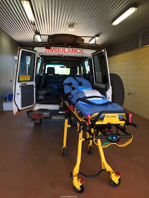 An outback ambulance