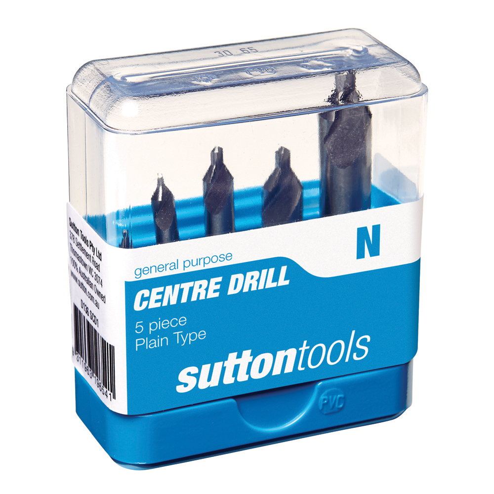 Centre Drill Set 5pc Plain Type