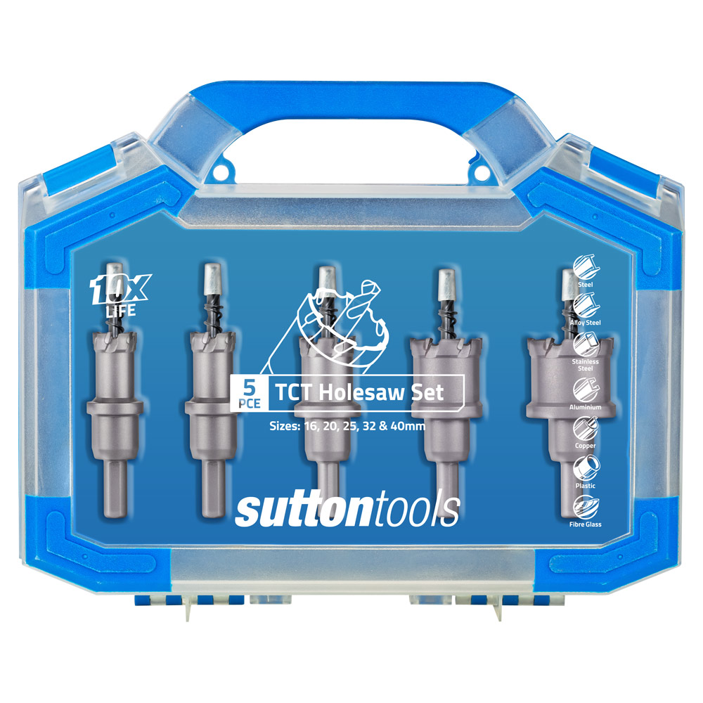 "TCT MULTI-PURPOSE HOLESAW FOR WOOD FIBRE CEMENT ETC 4/"" SUTTON 102mm"