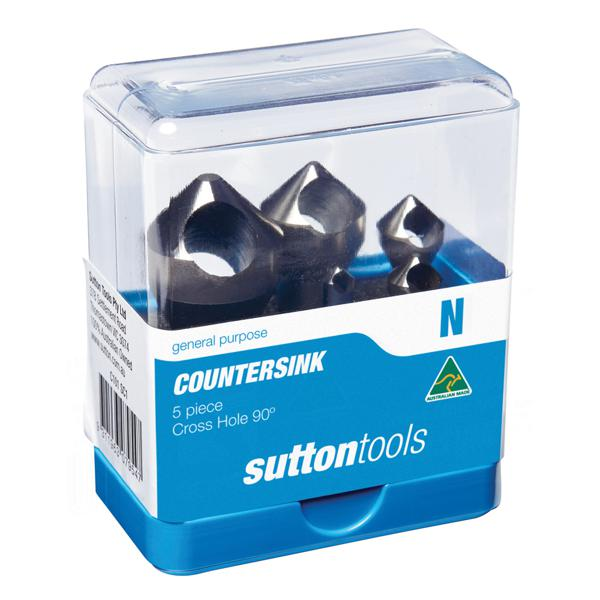 Deburring Countersink Sets - 90° Cross Hole   Sutton Tools