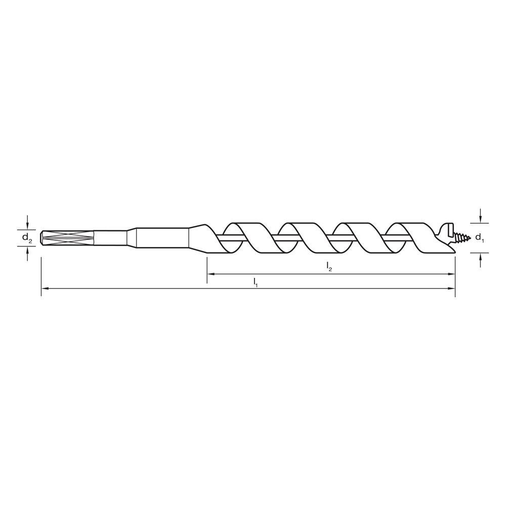 auger bit drawing. auger bits short series d510 d510_drawing.jpg bit drawing l