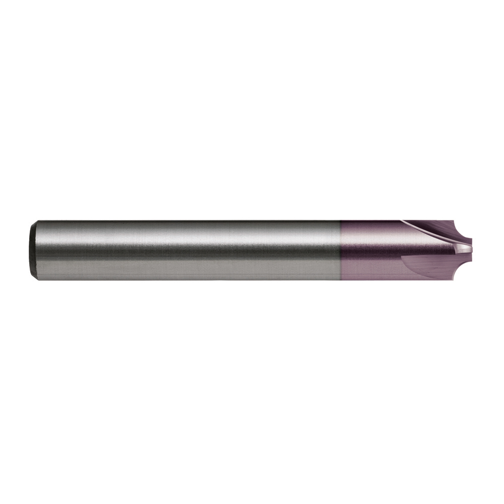 TiAlN Number of Flutes: 5 1 Length of Cut Cleveland Corner Radius End Mill C80556 7//16 Milling Dia CEM-V2-5R
