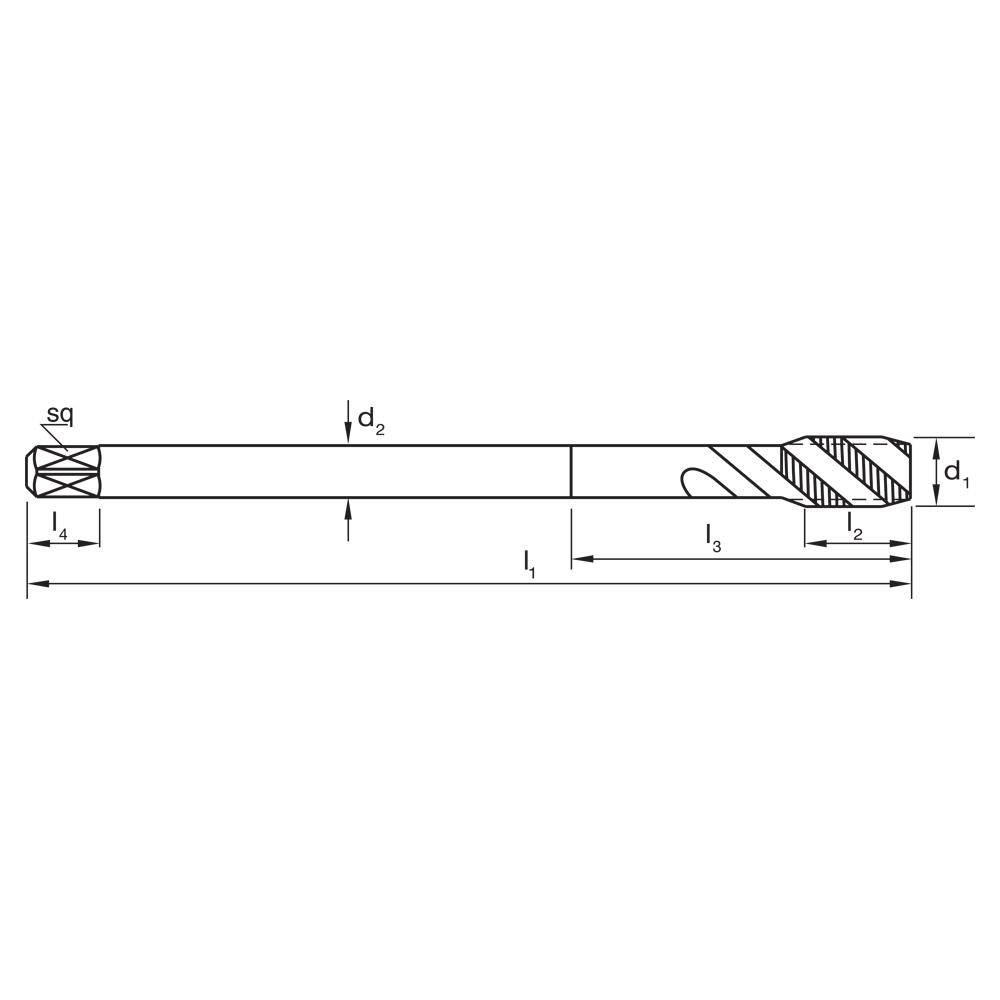 R45 VADH Sutton T1970400 M4 x 0.7 Spiral Flute Tap HSSE V3 Blue