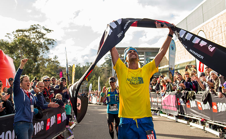 Dylan Bowman takes the win at The North Face 100 Australia
