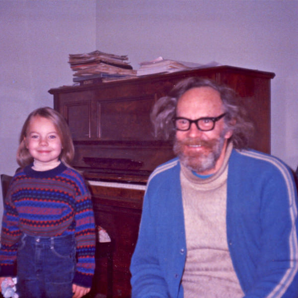 The author with her grandfather
