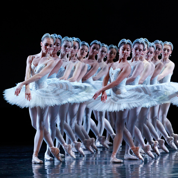 Artists of The Australian Ballet in Stephen Baynes' Swan Lake. Photography Jeff Busby
