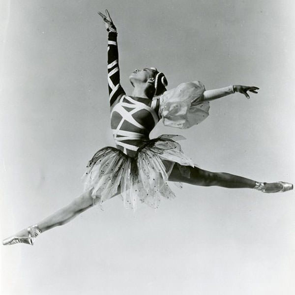 Maria Tallchief in one of the original costumes for The Four Temperaments