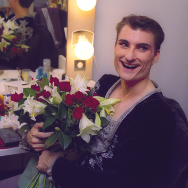 David McAllister after Giselle, his final performance. Photography Branco Gaica