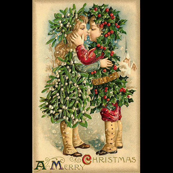 creepy cute the victorian christmas card