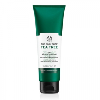 TEA TREE 3-IN-1 WASH. SCRUB. MASK 125ML