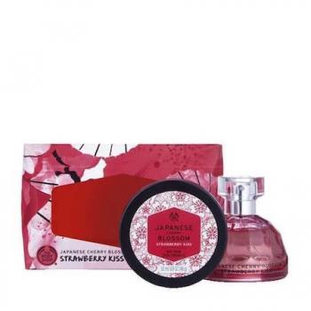Japanese Cherry Blossom Strawberry Kiss Eau De Toilette Gift Set