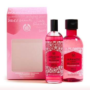 Japanese Cherry Blossom Strawberry Kiss Mist & Shower Duo