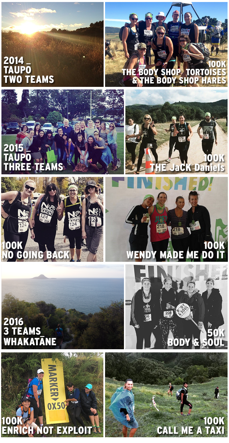 2014 The Body Shop Oxfam Trailwalker Teams