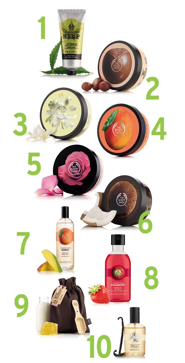 Our Top 10 Bath & Body  Products