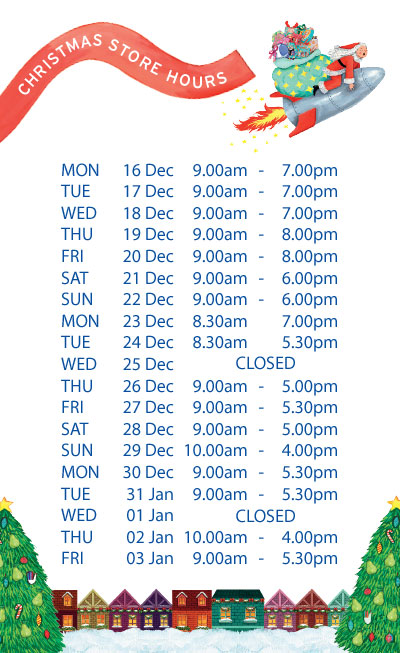 The Body Shop NZ Christmas Hours