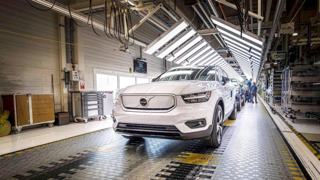 Volvo Starts Production Of Their First Fully Electric Vehicle The Xc40 Recharge Techau