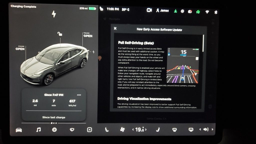 Tesla software update 2020.40.8.12 includes interface ...