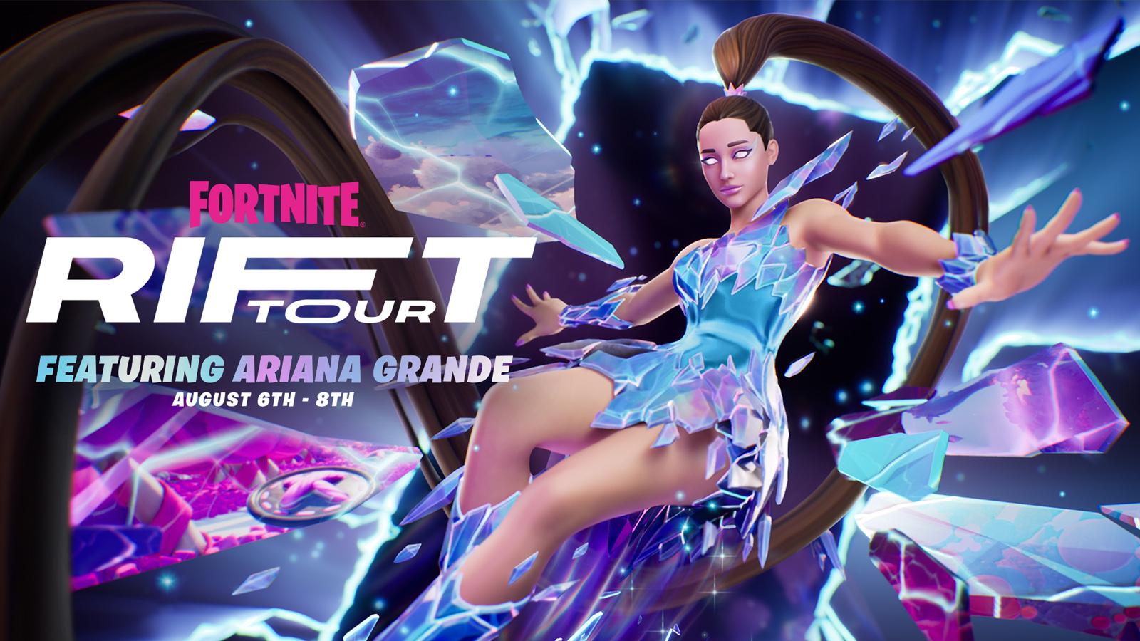 Ariana Grande se une a una lista creciente de artistas para actuar en el juego, el Rift Tour de Fortnite comienza mañana