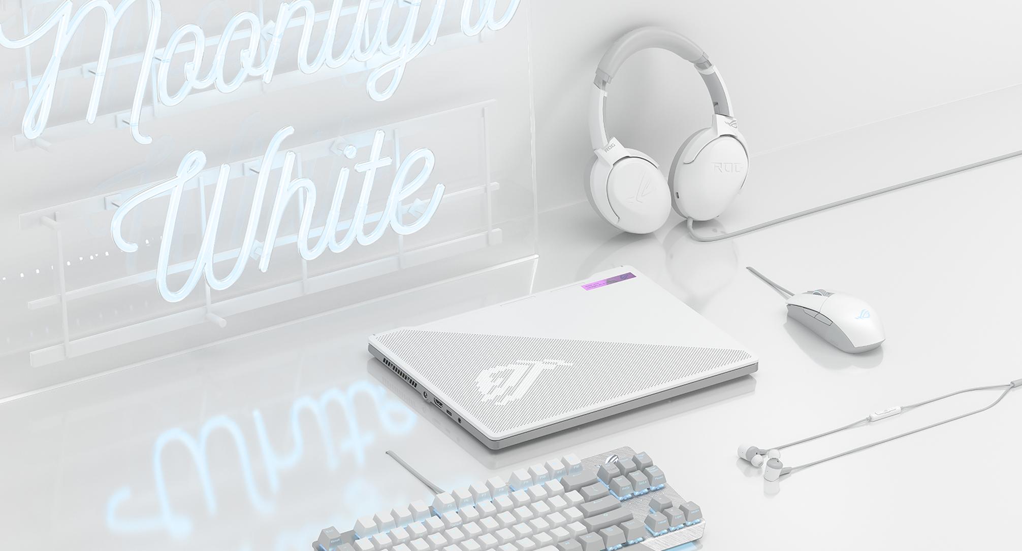 ASUS Republic of Gamers anuncia nuevos periféricos para juegos Moonlight White