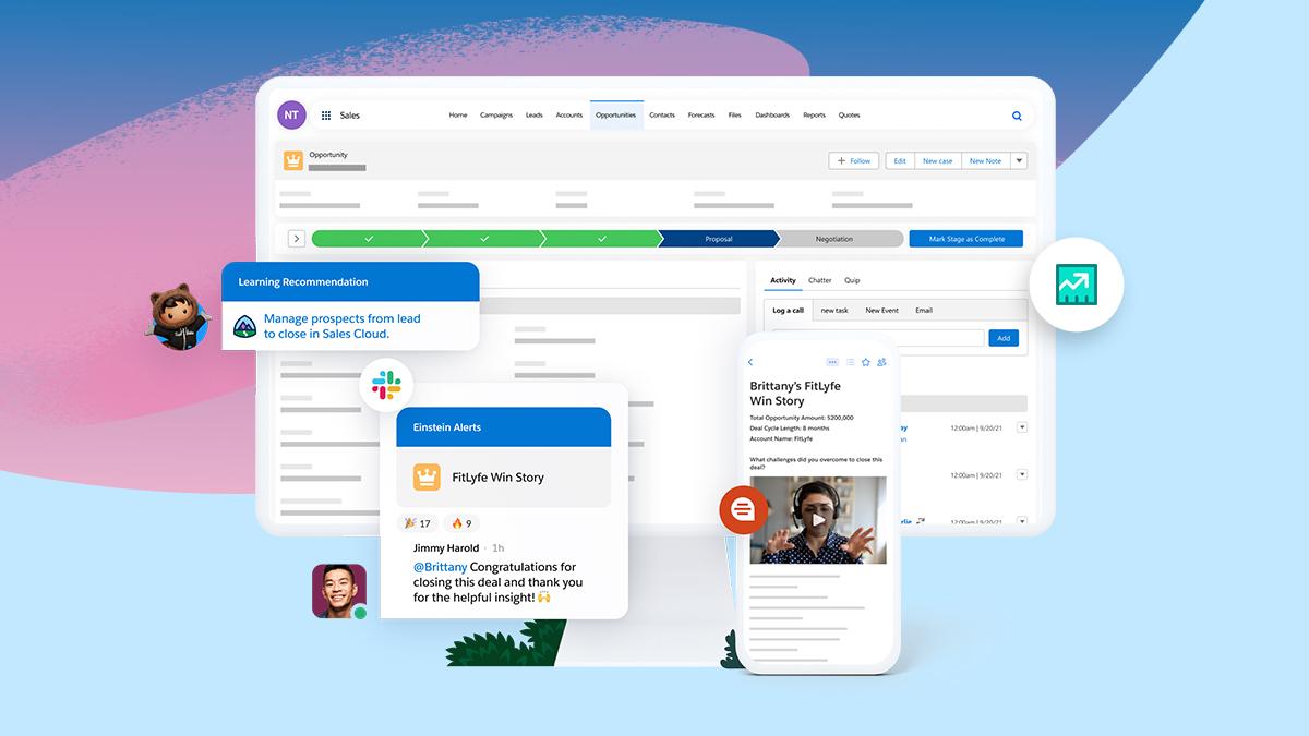 Las innovaciones de Salesforce Sales Cloud ayudan a las empresas a vender de forma más inteligente y aumentar los ingresos más rápido