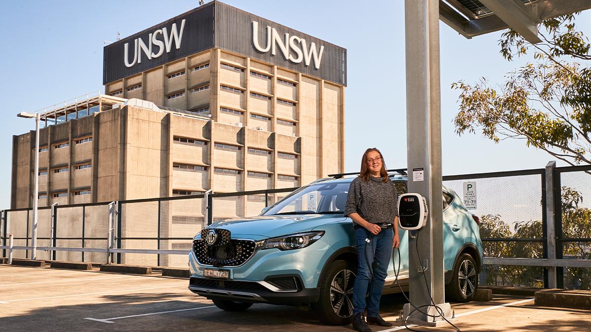 UNSW agrega estaciones de carga de vehículos eléctricos con energía solar para el personal y los estudiantes