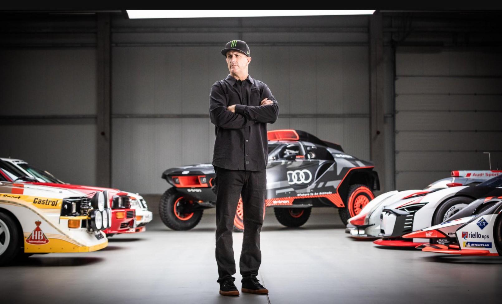 Ken Block trabaja en 'Electrikhana' como parte de una nueva asociación con Audi