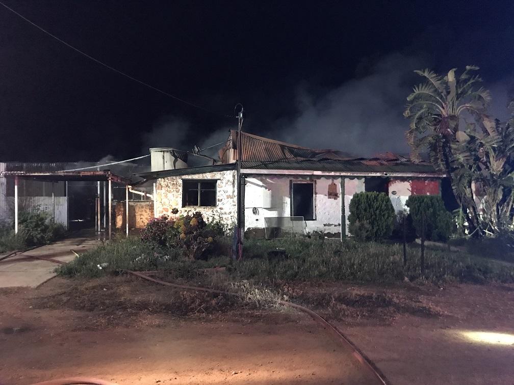 Moonta house fire 25 Aug 2020